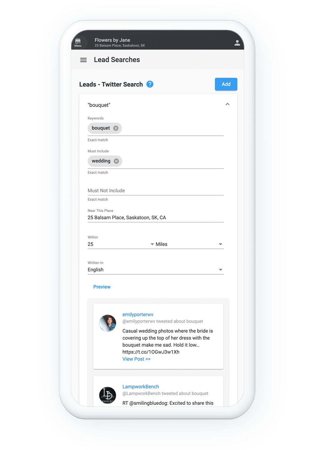 Twitter Lead Finder